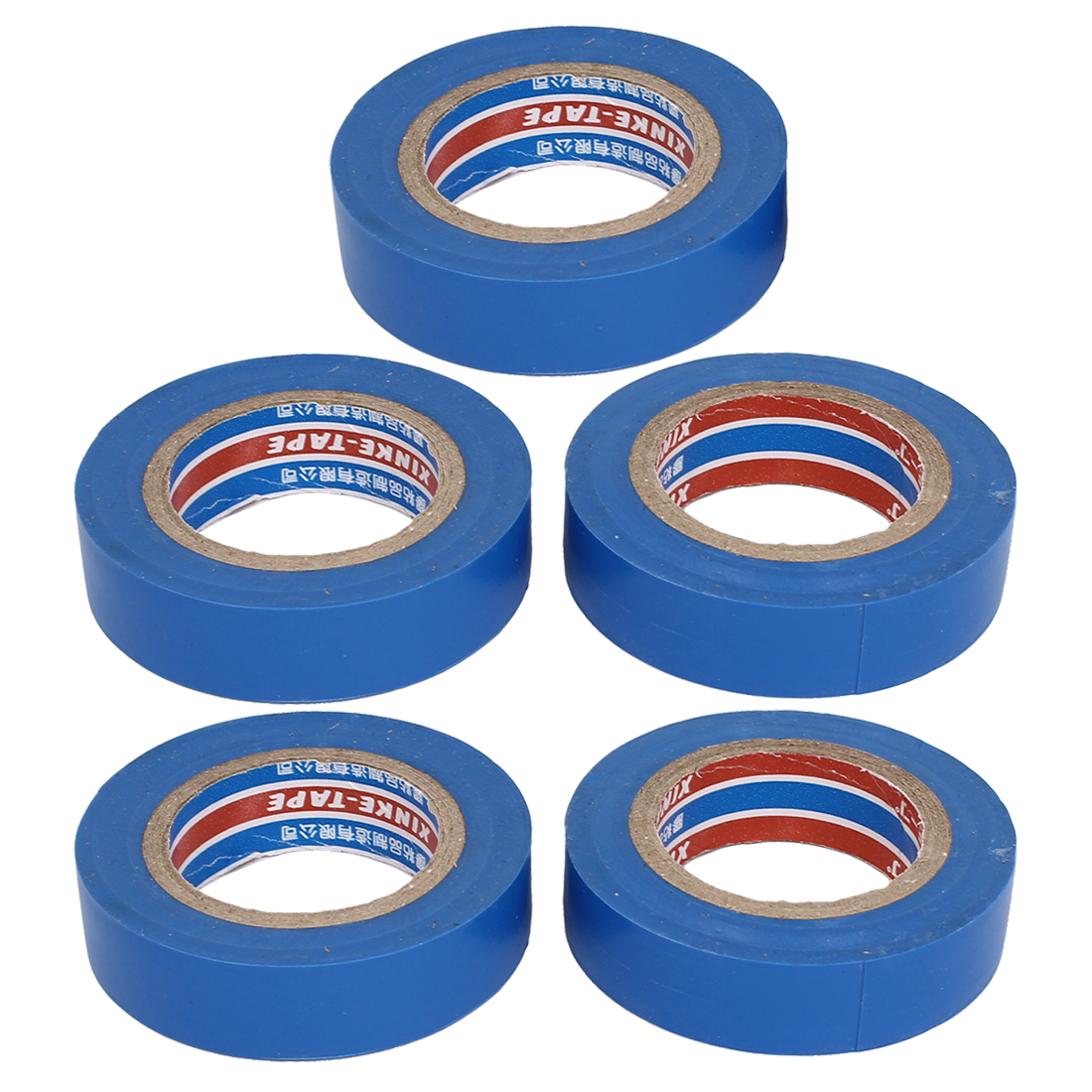 Cable Wire Repair Blue PVC Self-adhesive Electrical Insulation Tape Band 5Pcs