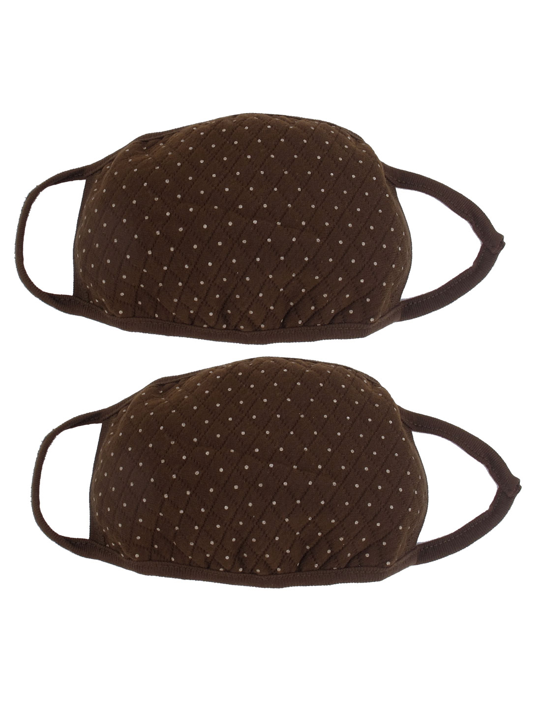 Cycling Cotton Blend Anti Dust Mouth Cover Face Mask Respirator 2pcs Brown
