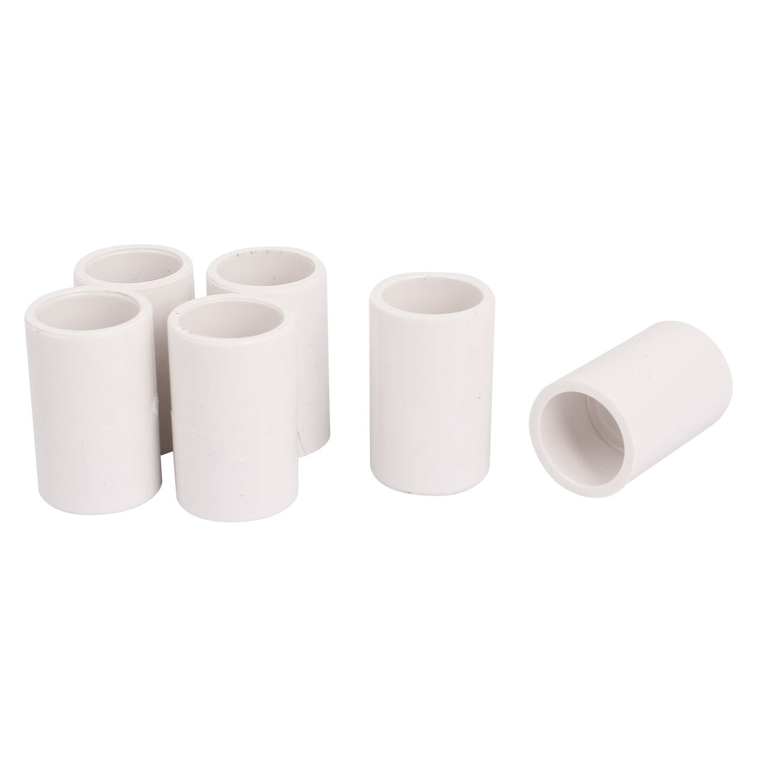 20mm Drinking Water Pipe Tube Straight PVC-U Fitting Adapter Connector 6pcs