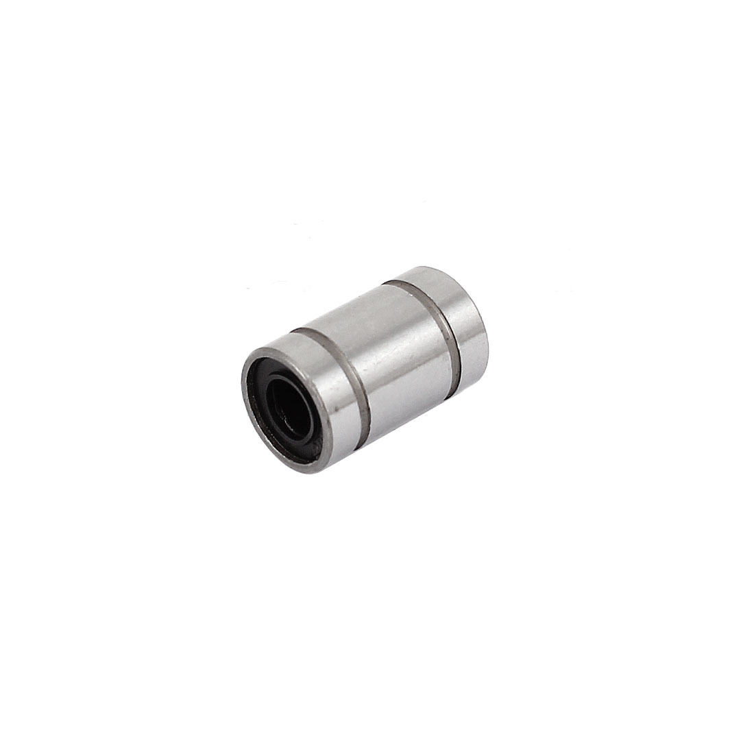 LM6UU Silver Tone Carbon Steel Sealed Rubber Cylinder Shaped Linear Ball Bearing
