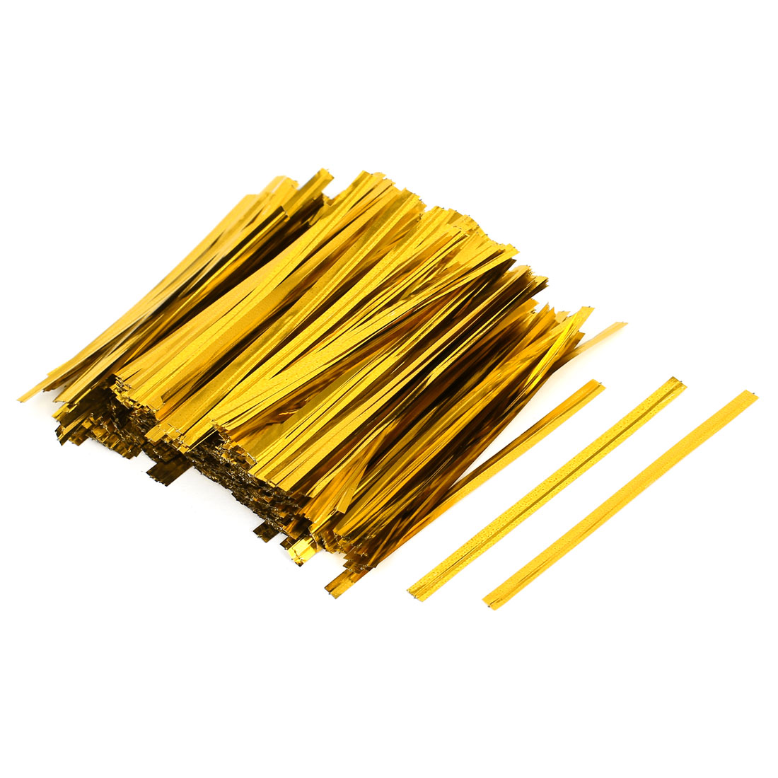 1600 Pcs Gold Tone 8cm Length Candy Bread Bags Packaging Twist Cable Tie