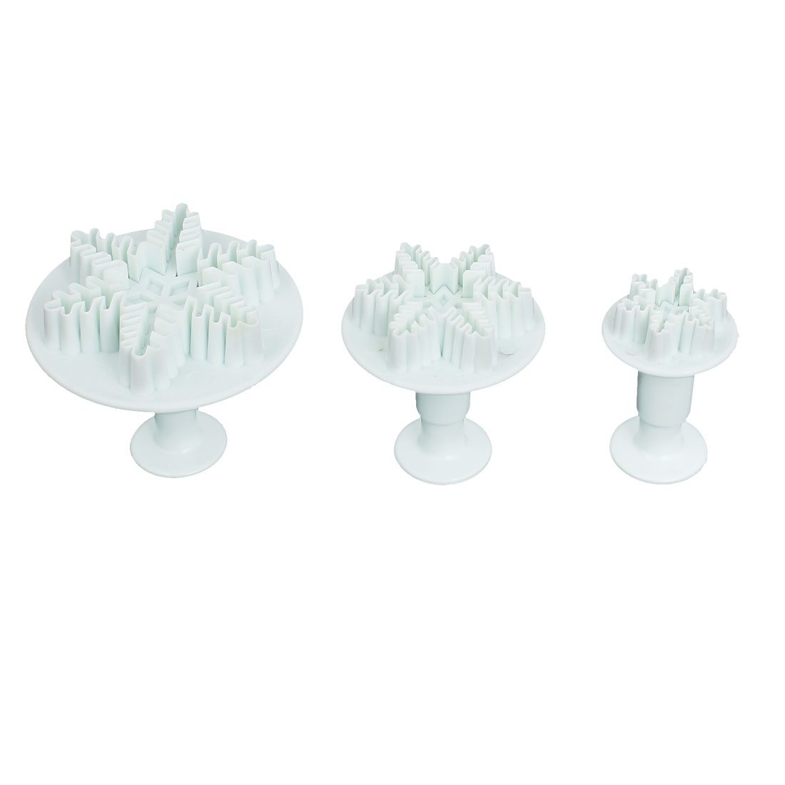 3Pcs Snowflake Shape Cake Decorating Mold Mould Sugarcraft Plunger Cutter Tools