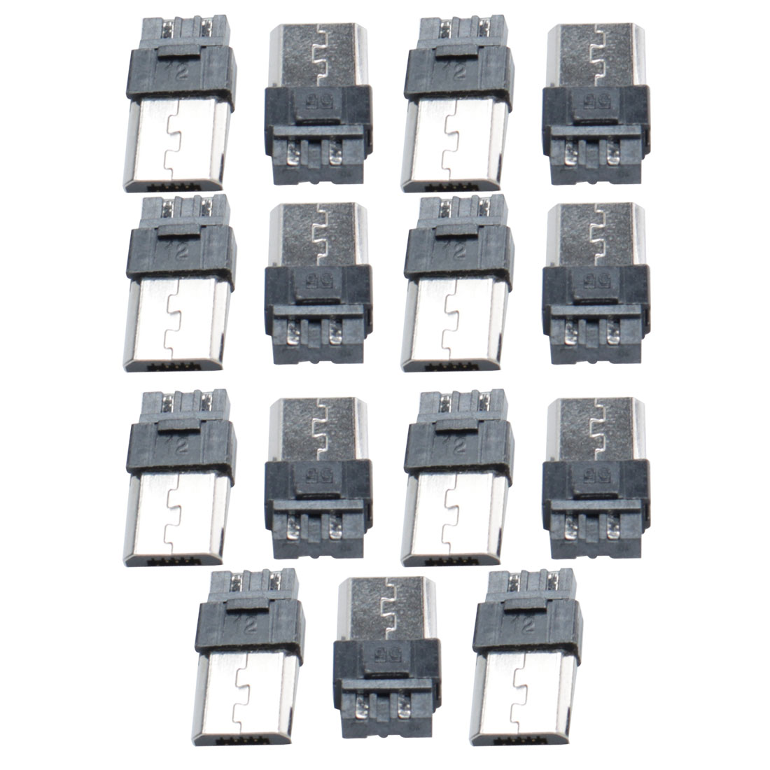 15pcs Mini Micro USB Type B 5-Pin Male Soldering Jack Socket Connector