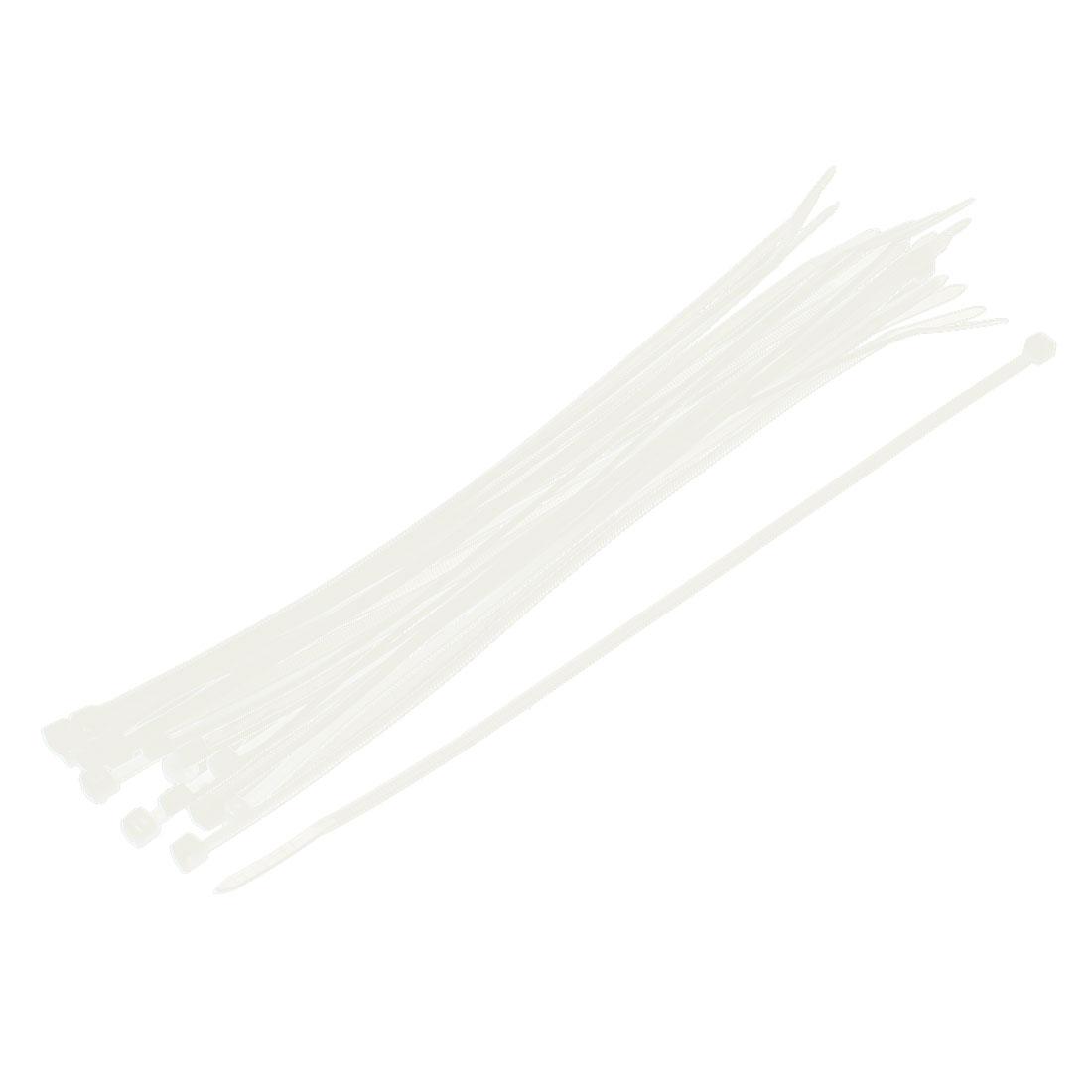 Nylon Self-Locking Zip Trim Wrap Cable Wire Tie Loop 3mm x 200mm 20Pcs