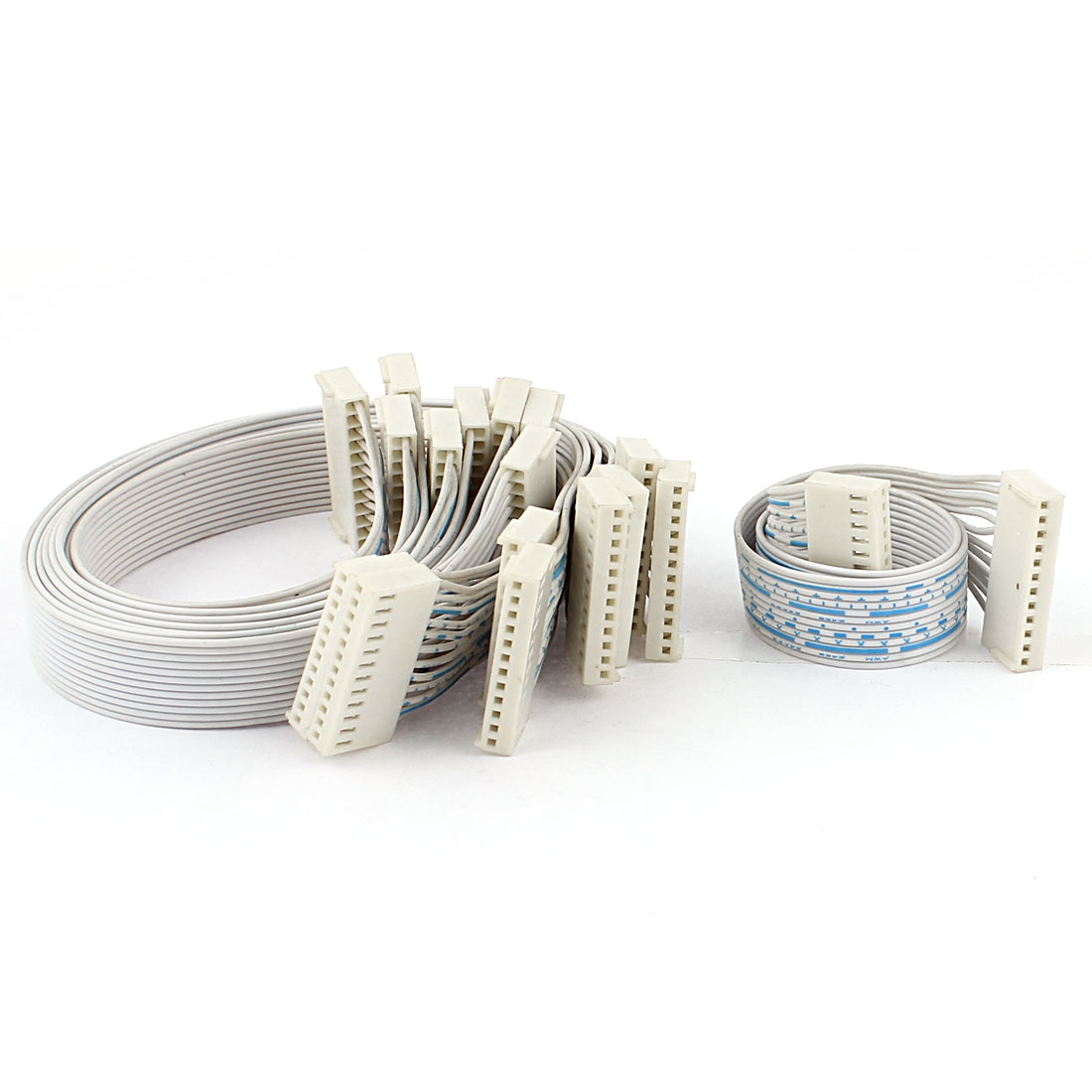9Pcs 2.54mm Pitch 12 Pin 12 Wire 24AWG Female IDC Flat Ribbon Cable 31cm