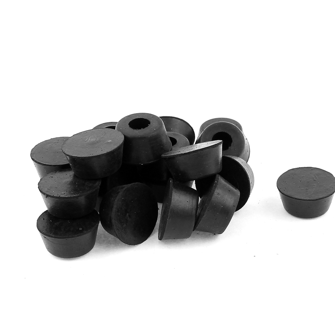 Rubber Furniture Table Chair Leg Tip Protector Bumpers 8mm Dia 20pcs