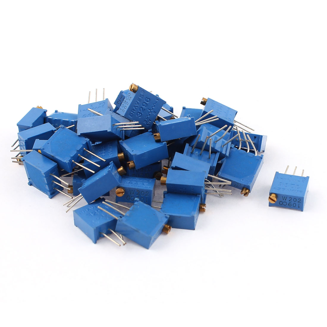 40Pcs Potentiometer Trimmer Trimpot Trim Pot Variable Resistor 3296W-202 2K Ohm