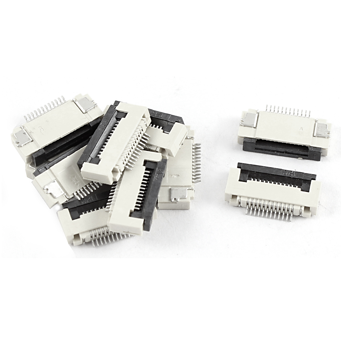 10 Pcs Clamshell Type Bottom Port 12Pin 0.5mm Pitch FFC FPC Sockets Connector
