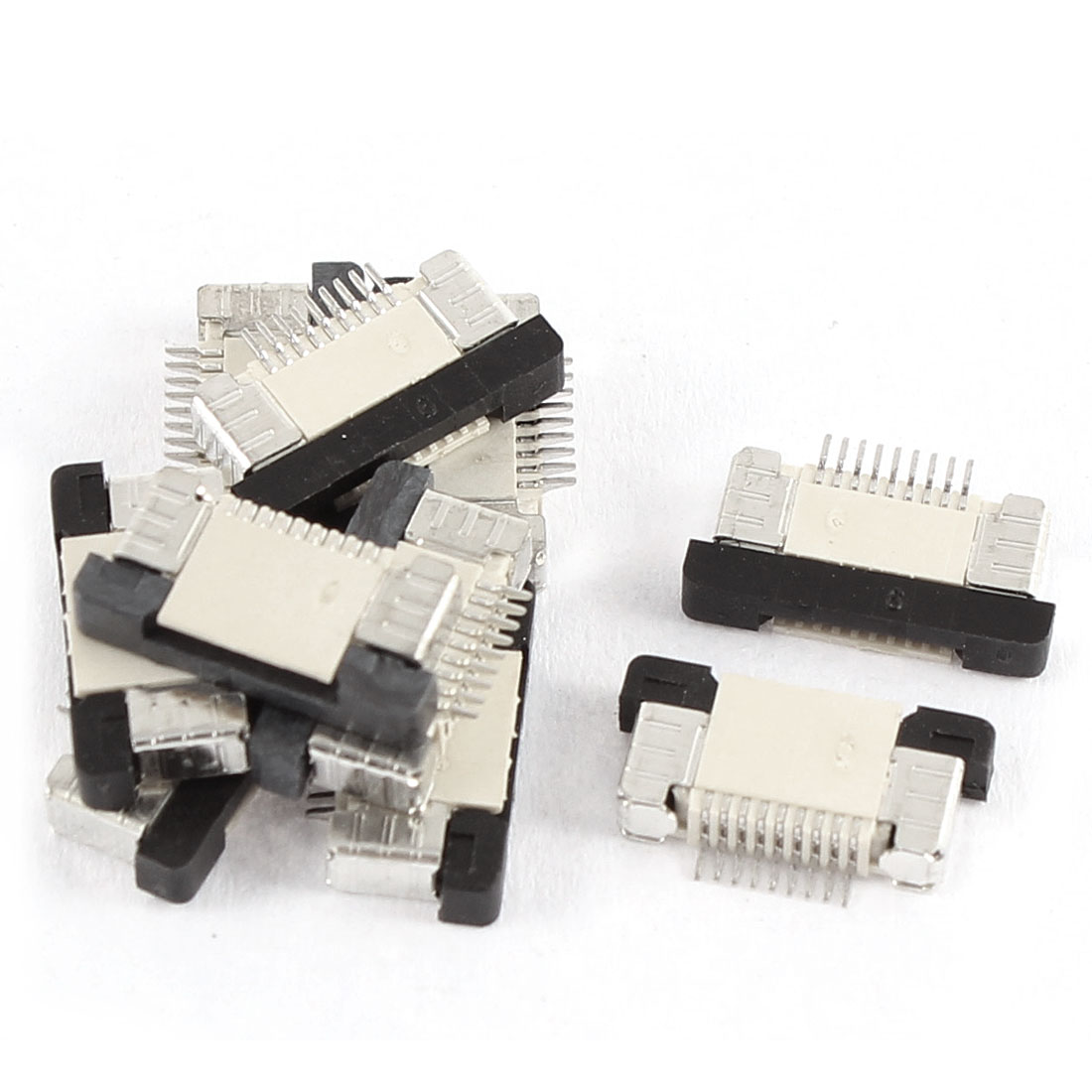 10Pcs Bottom Port 9Pin 0.5mm Pitch FFC FPC Ribbon Sockets Connector