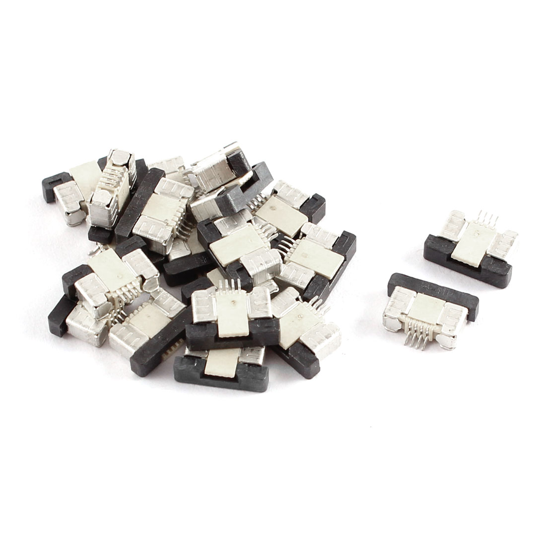 20Pcs Bottom Connect 4Pin 0.5mm Pitch FFC FPC Ribbon Sockets Connector