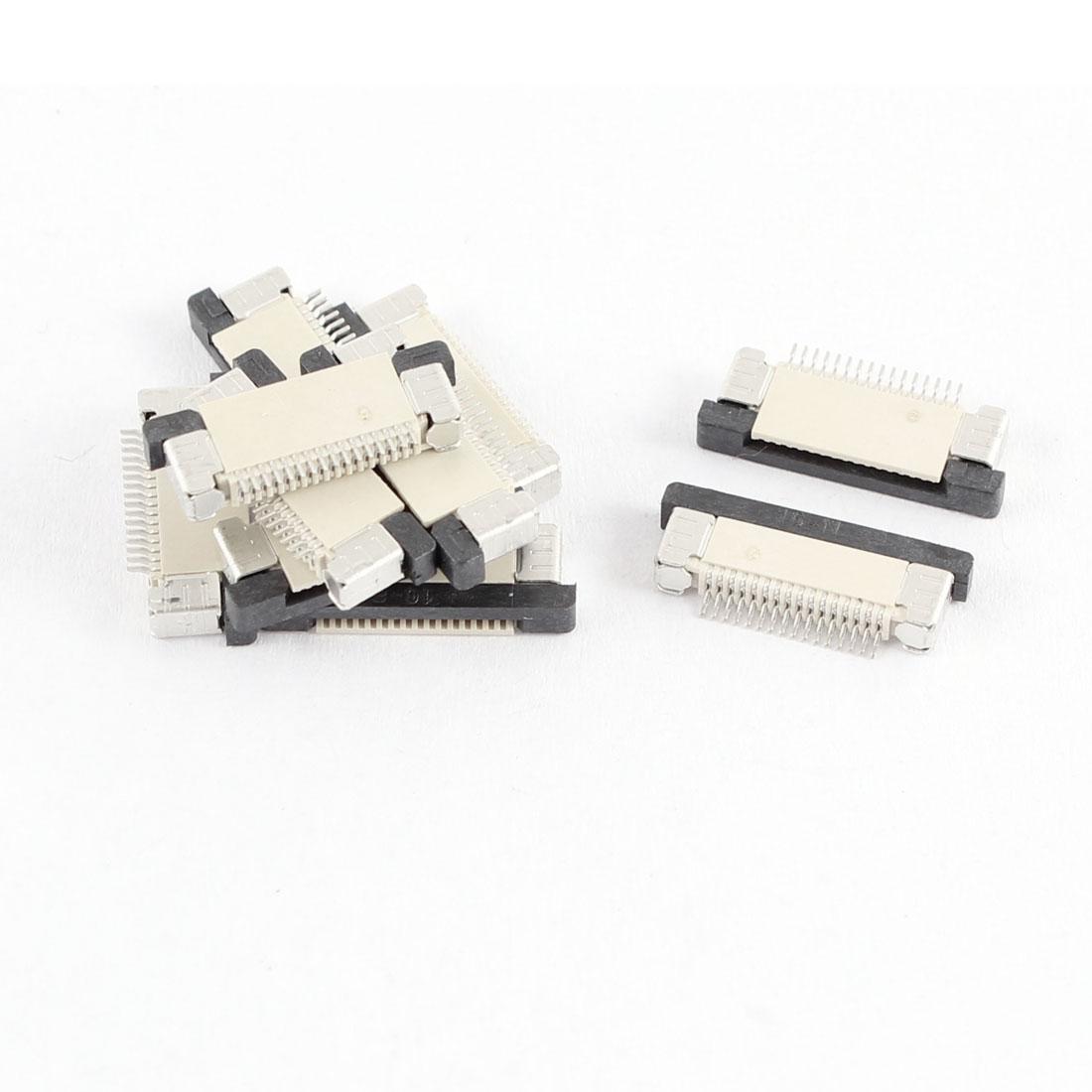 10Pcs Bottom Port 16Pin 0.5mm Pitch FFC FPC Ribbon Sockets Connector