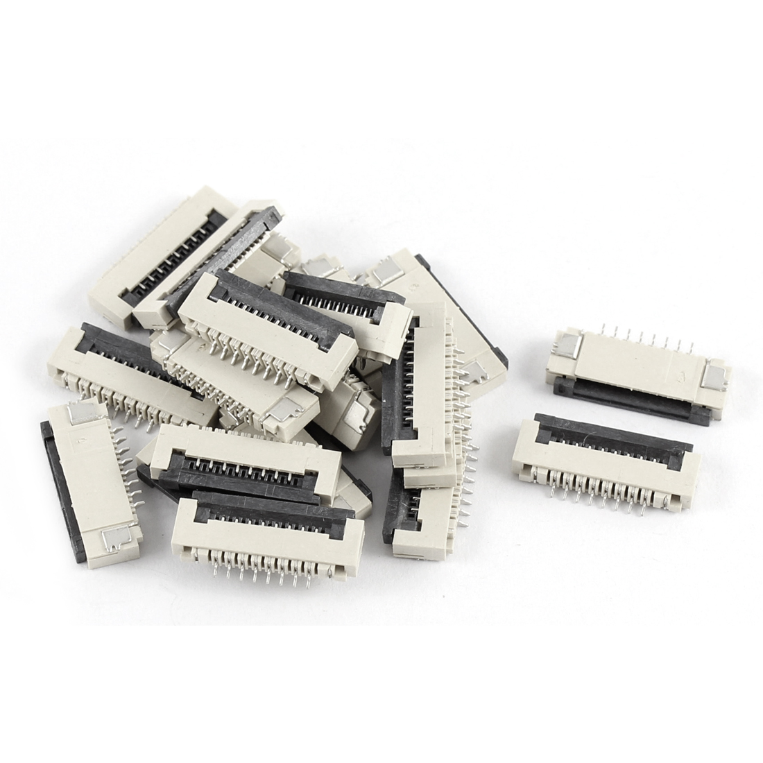 20Pcs Clamshell Type Bottom Port 8Pin 1.0mm Pitch FFC FPC Sockets Connector