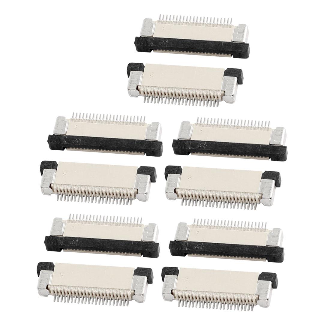 10Pcs Bottom Port 22Pin 0.5mm Pitch FFC FPC Ribbon Sockets Connector