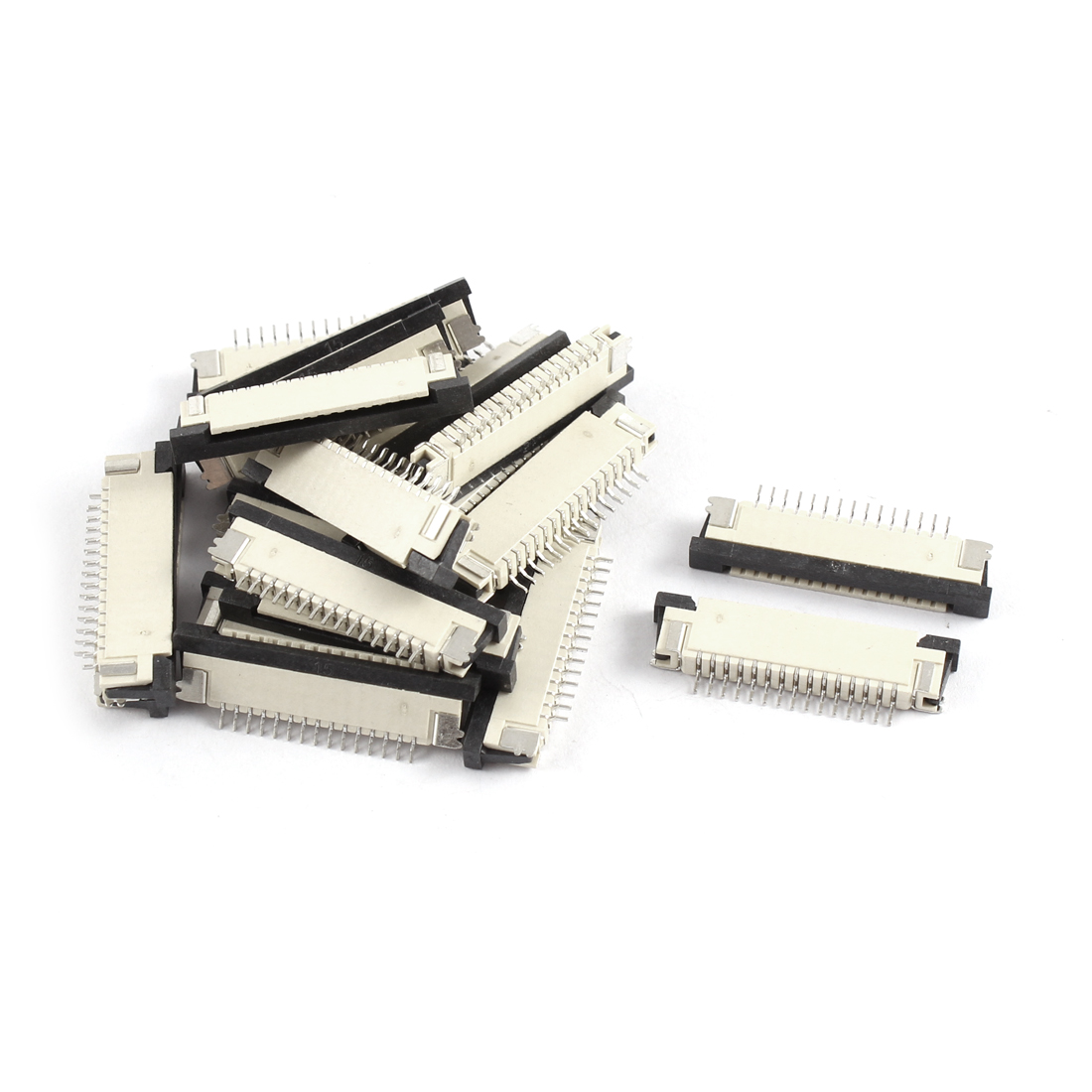 20Pcs Bottom Port 15Pin 1.0mm Pitch FFC FPC Ribbon Sockets Connector