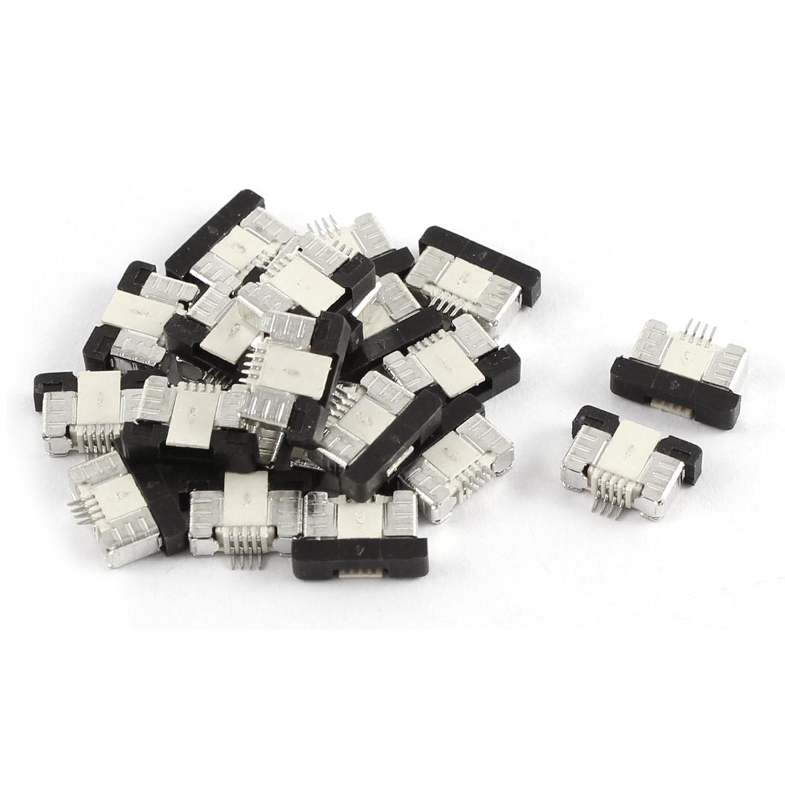 20Pcs Bottom Port 4Pin 0.5mm Pitch FFC FPC Ribbon Sockets Connector