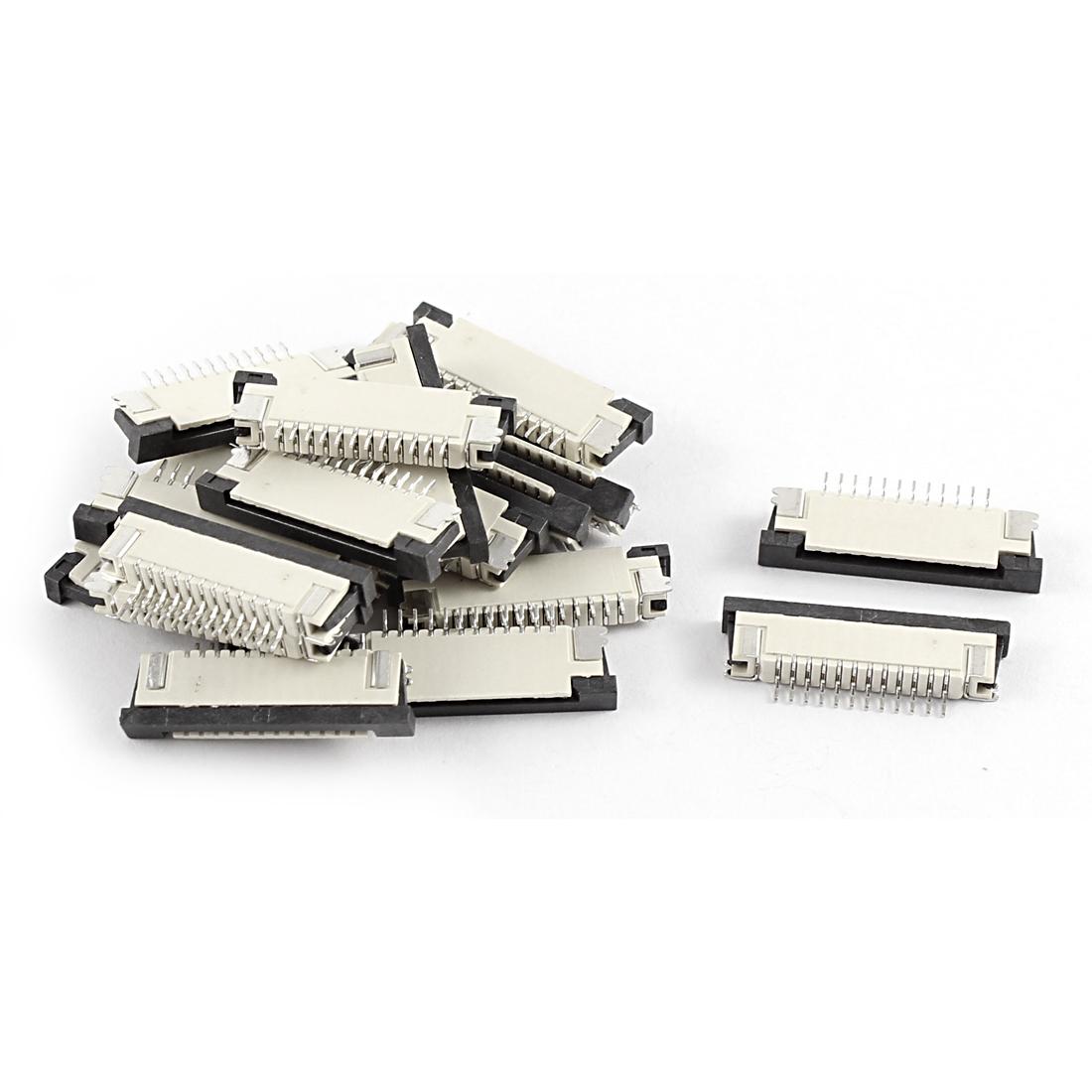 20 Pcs Bottom Port 12Pin 1.0mm Pitch FFC FPC Ribbon Sockets Connector