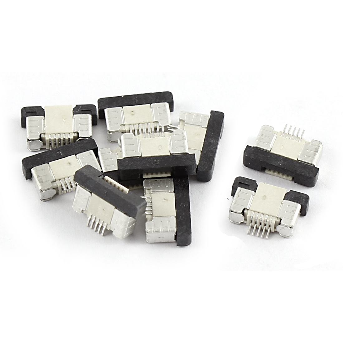 10Pcs Bottom Port 5Pin 0.5mm Pitch FFC FPC Ribbon Sockets Connector