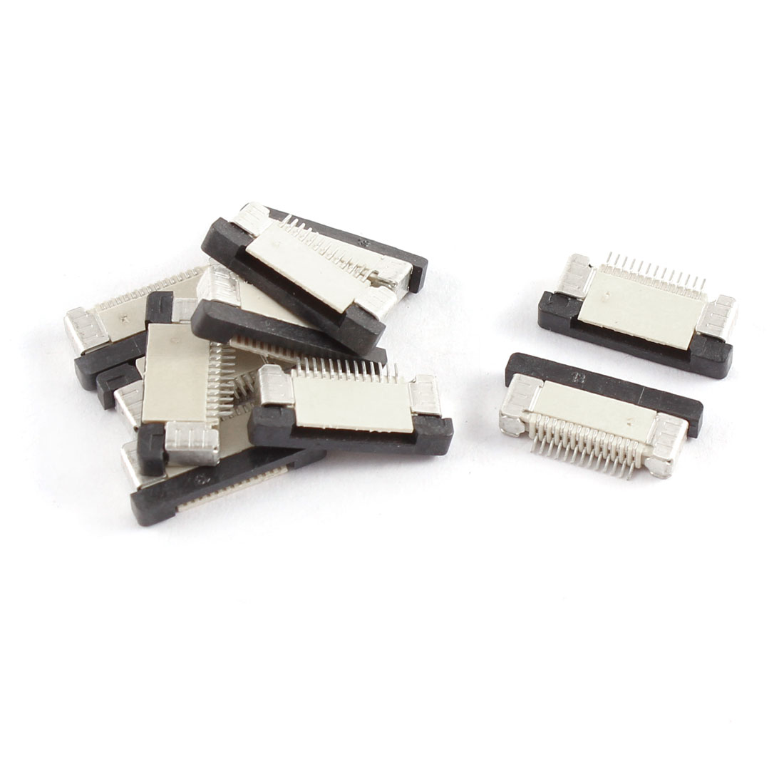 10Pcs Bottom Port 13P 1.0mm Pitch FFC FPC Ribbon Sockets Connector