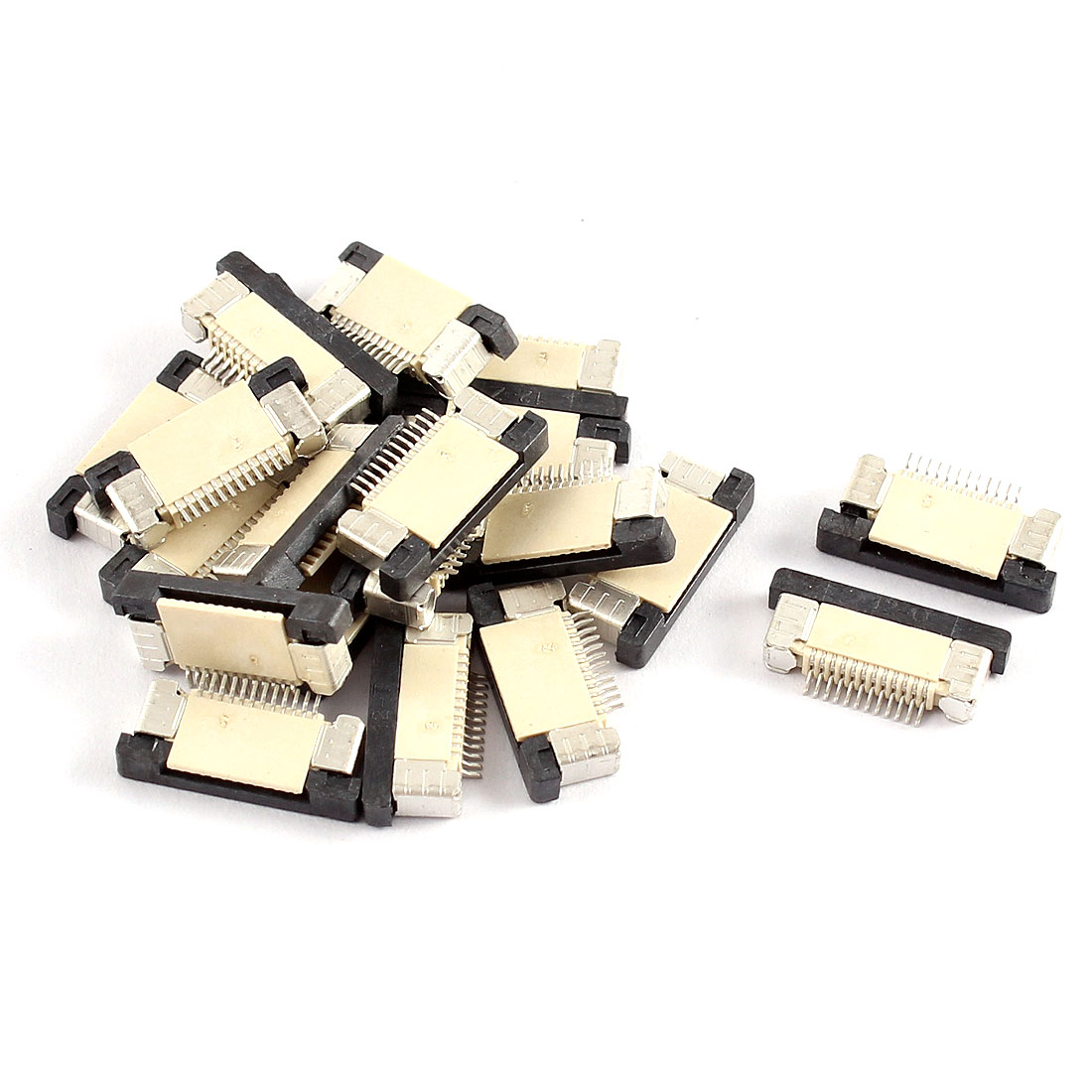 20Pcs Bottom Port 12Pin 0.5mm Pitch FFC FPC Ribbon Sockets Connector
