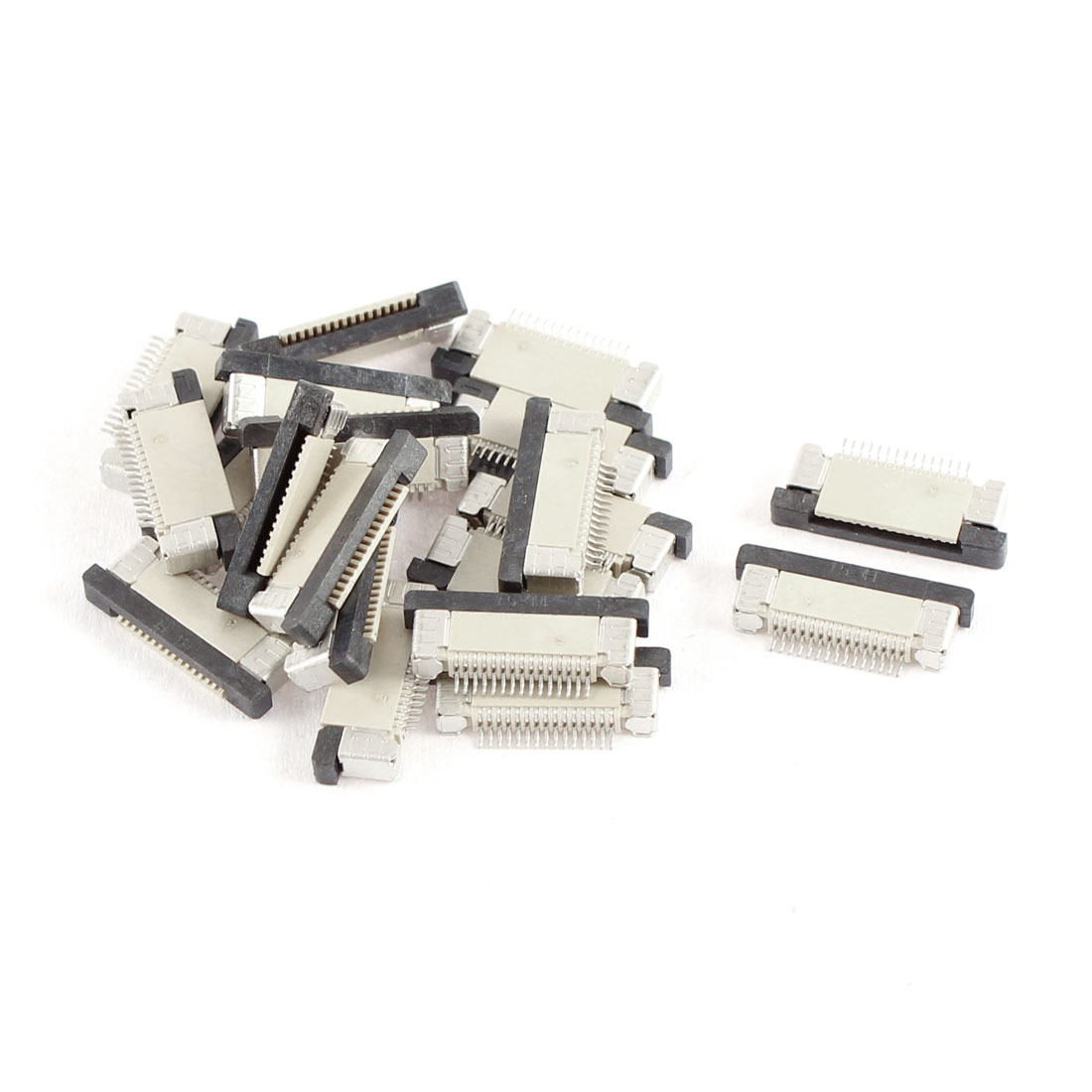 20Pcs Bottom Port 15Pin 0.5mm Pitch FFC FPC Ribbon Sockets Connector