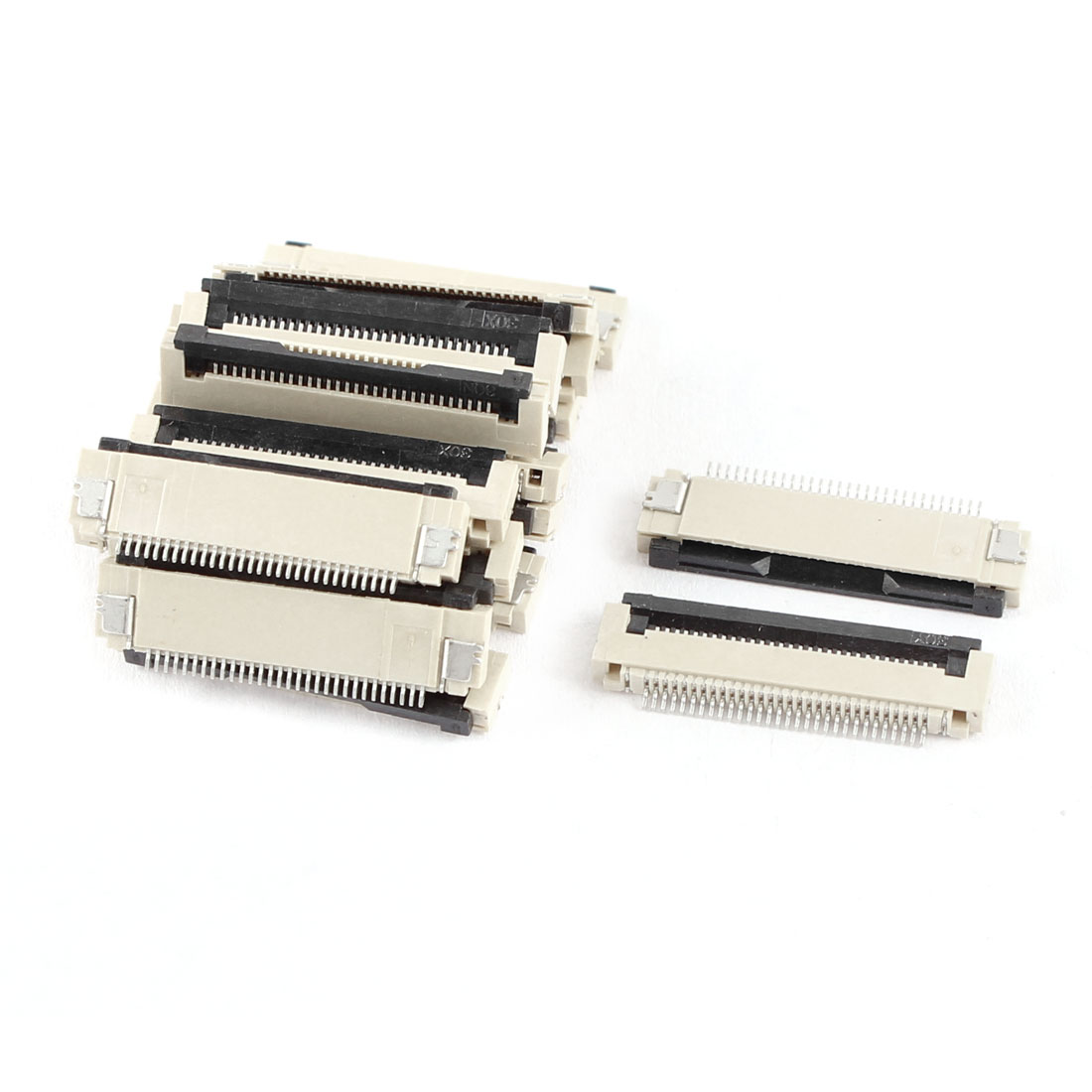 20Pcs Clamshell Type Bottom Port 30Pin 0.5mm Pitch FFC FPC Sockets Connector