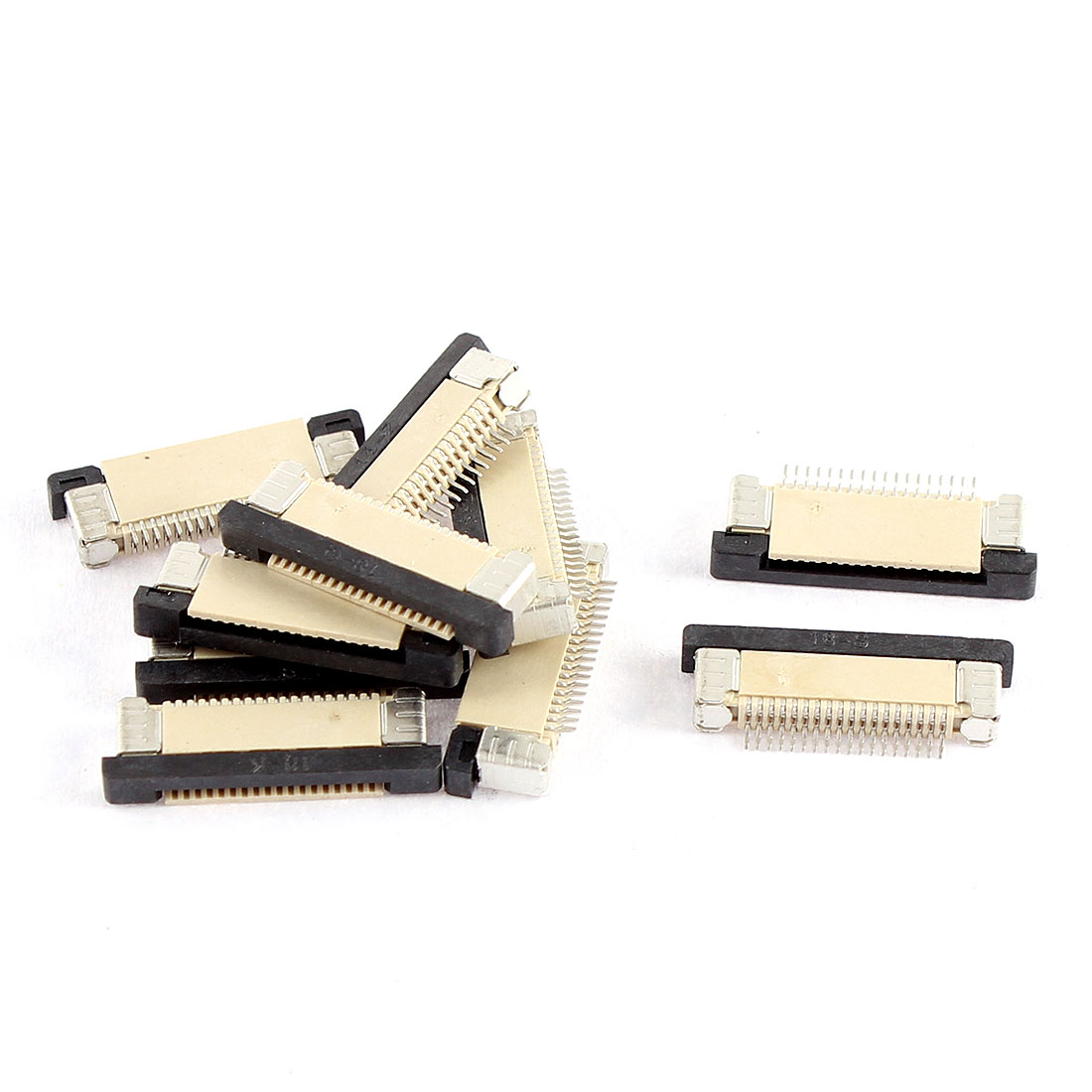10Pcs Bottom Port 18Pin 0.5mm Pitch FFC FPC Ribbon Sockets Connector