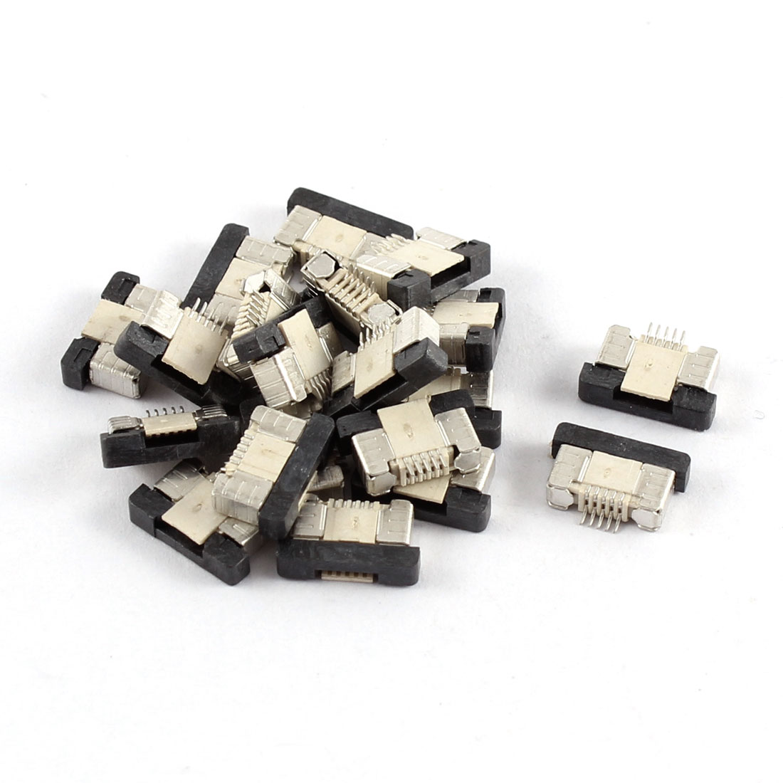 20Pcs Bottom Port 5Pin 0.5mm Pitch FFC FPC Ribbon Sockets Connector