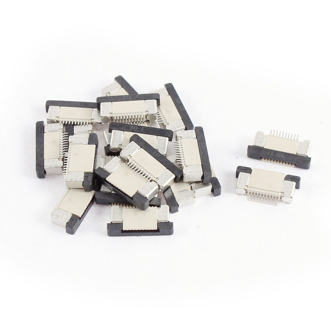 20Pcs Bottom Port 10Pin 0.5mm Pitch FFC FPC Ribbon Sockets Connector