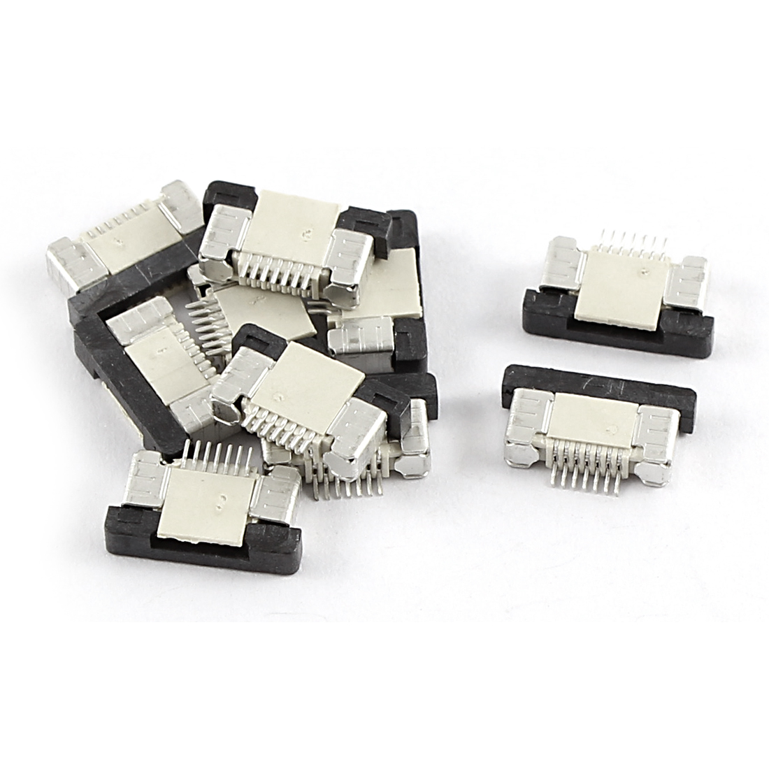 10Pcs Bottom Port 7Pin 0.5mm Pitch FFC FPC Ribbon Sockets Connector