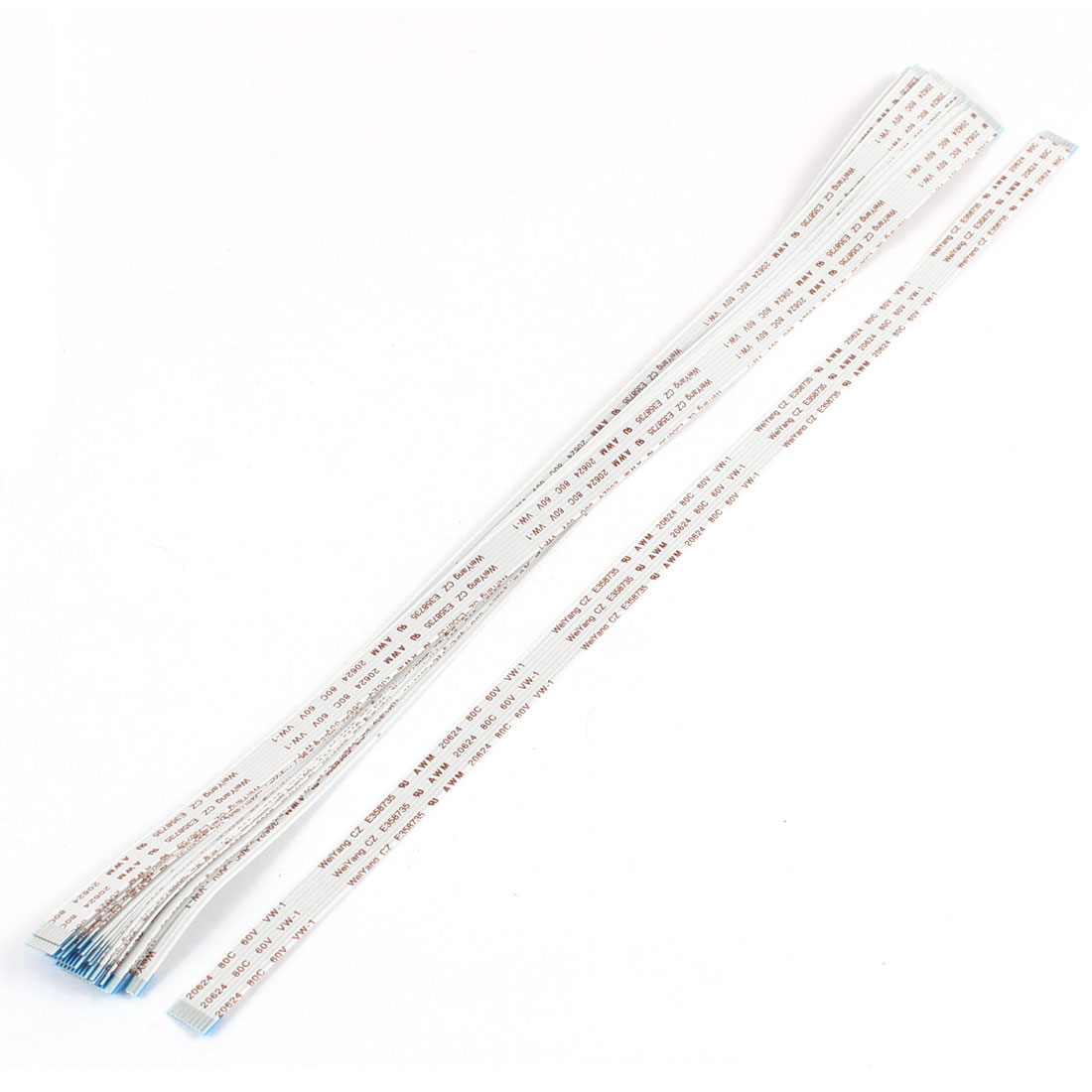 20Pcs 1.0mm Pitch 8 Pin 20624 80C 60V Flexible Flat Cable FFC FPC 300mm