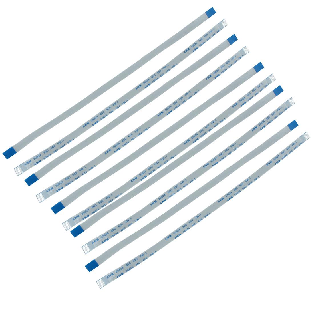10Pcs 0.5mm Pitch 10 Pin AWM 20624 80C 60V VW-1 Flexible Flat Cable FFC 200mm