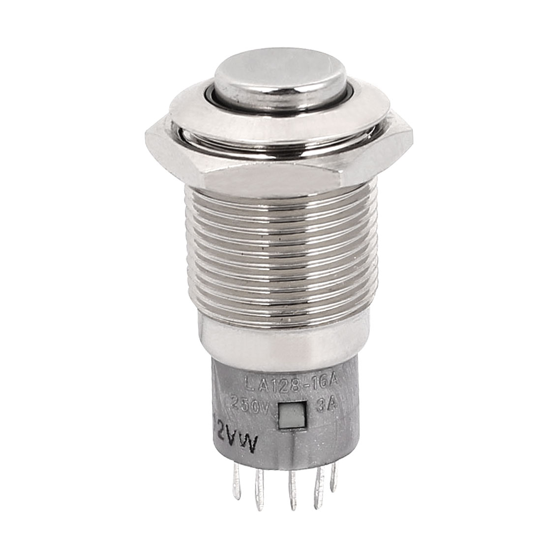 DC 12V Dome Top 5 Pins 16mm White LED Momentary Push Button Pushbutton Switch