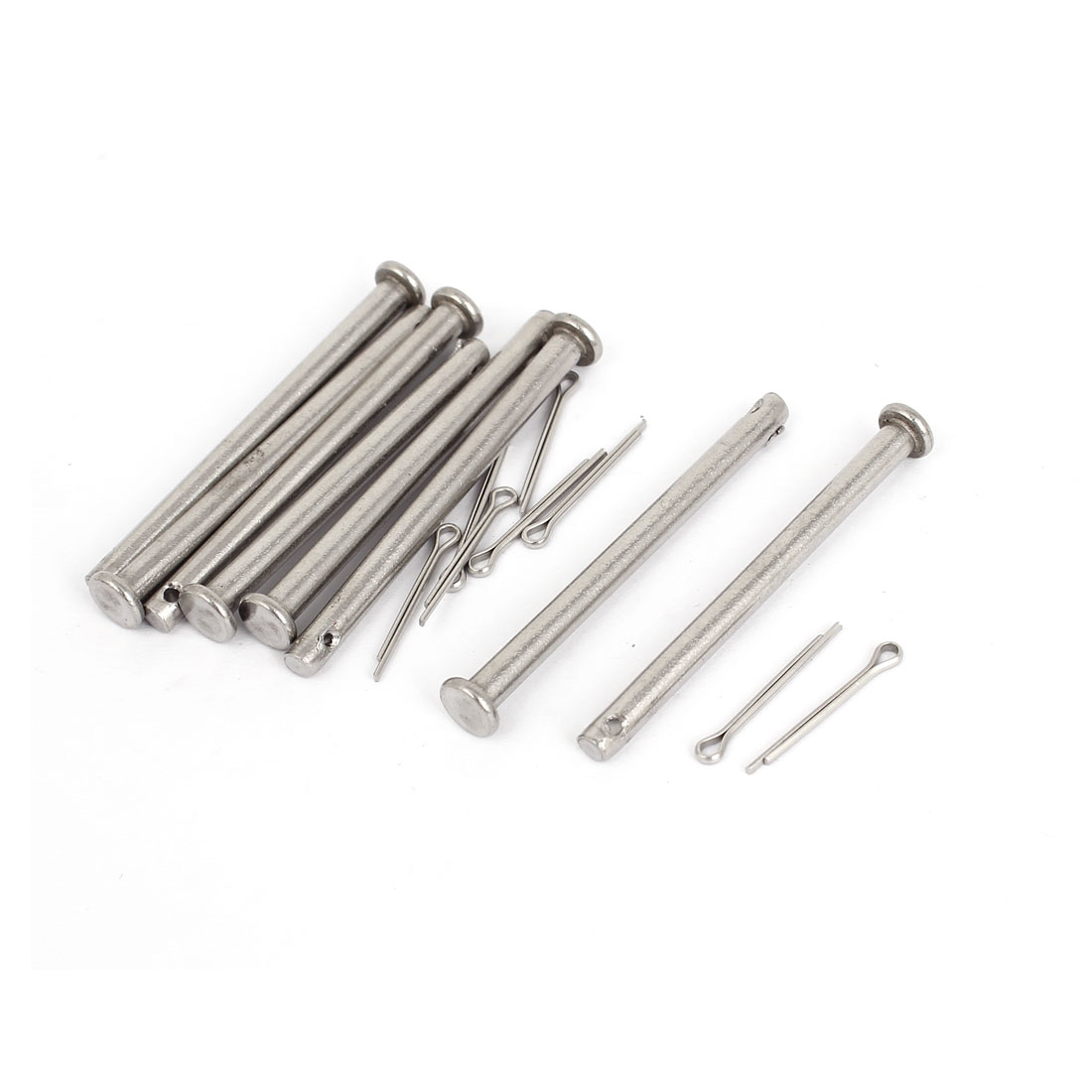 M4x50mm Flat Head 304 Stainless Steel Round Clevis Pins Fastener 8pcs