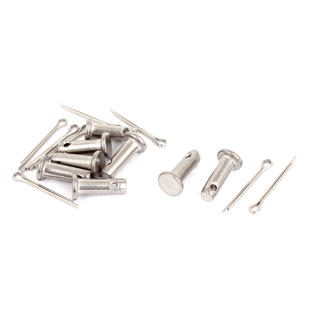 M4x12mm Flat Head 304 Stainless Steel Round Clevis Pins Fastener 8sets