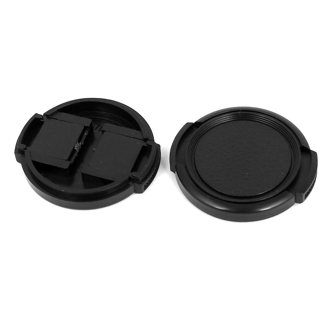 37mm Dia Vintage Style Plastic Front Snap Digital Camera Lens Cap Protector 2Pcs