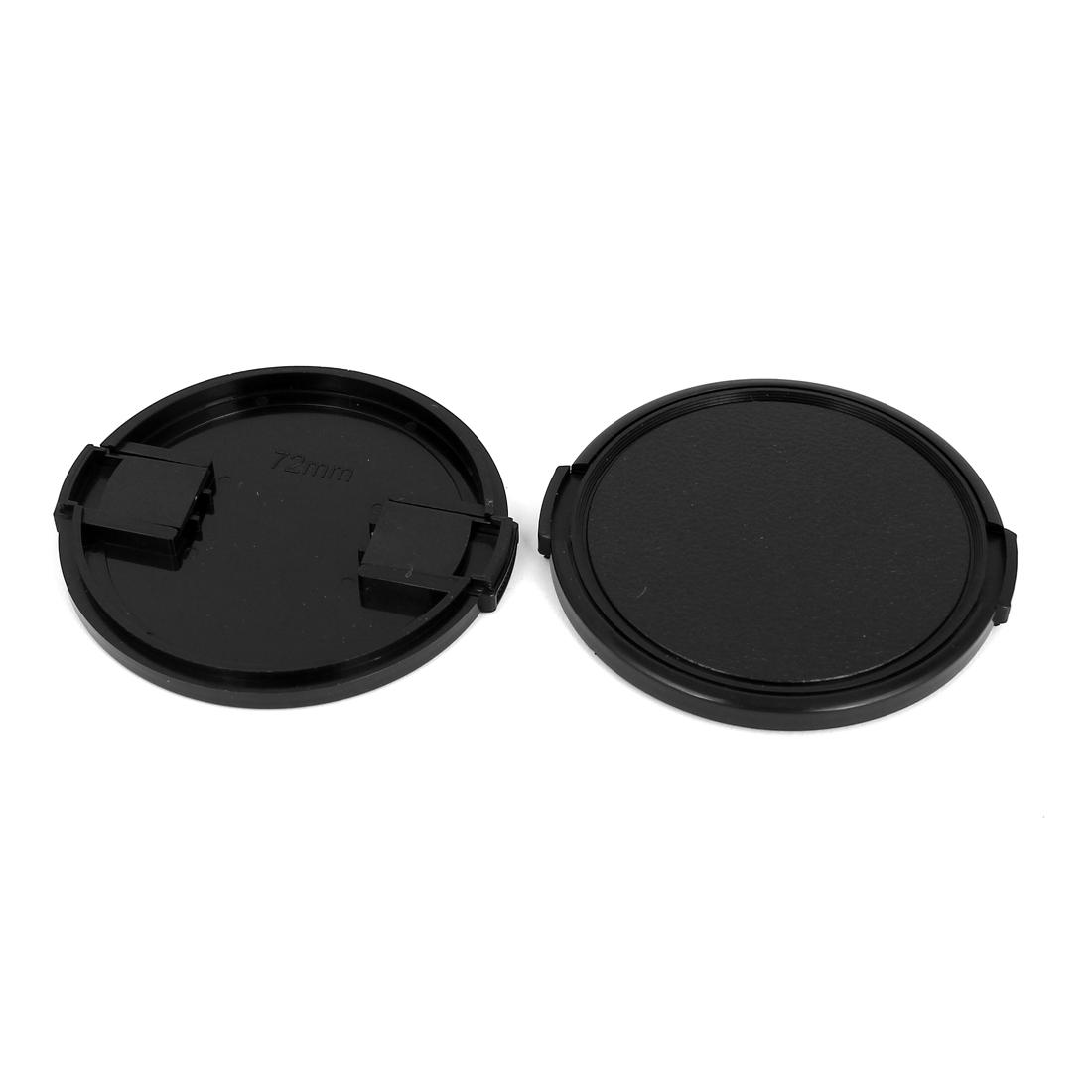 72mm Dia Vintage Style Plastic Front Snap Digital Camera Lens Cap Protector 2Pcs