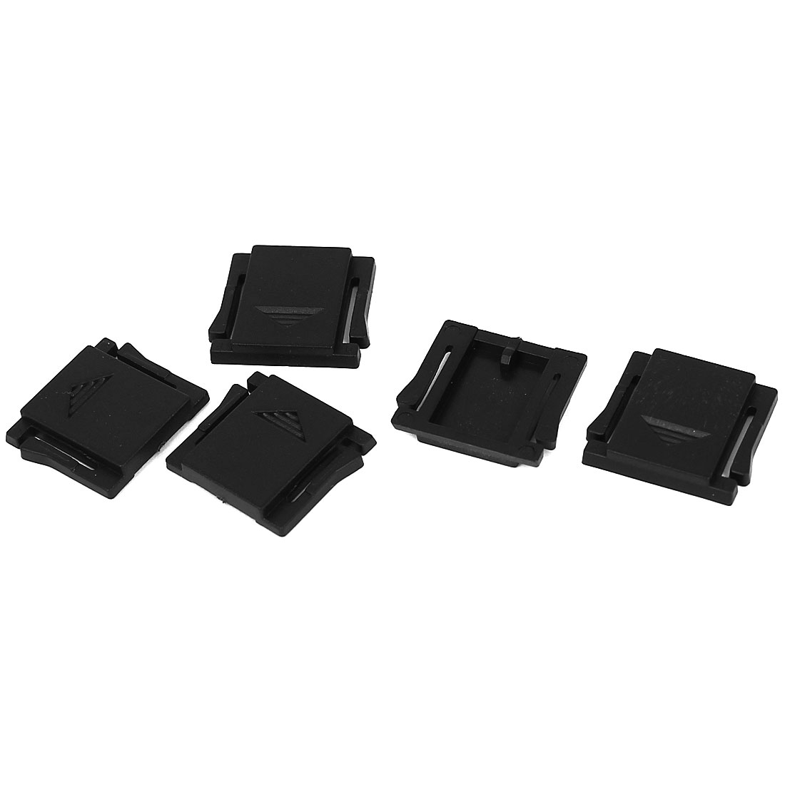 5Pcs Plastic Hot Shoe Portector Cover Cap for Dgital DSLR SLR Camara Black