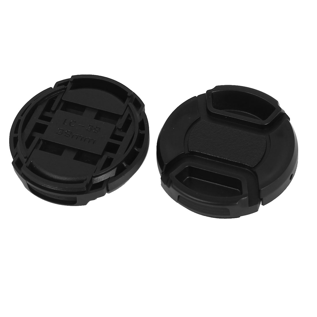 39mm Dia Plastic Front Snap Digital Camera Lens Caps Cover Protector 2Pcs
