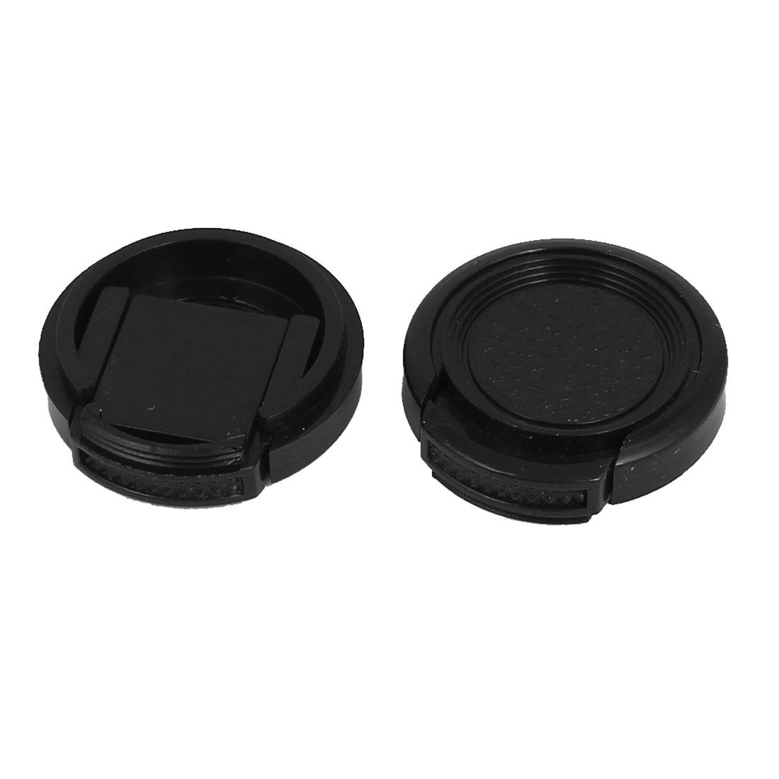 25mm Dia Vintage Style Plastic Front Snap Digital Camera Lens Cap Protector 2Pcs