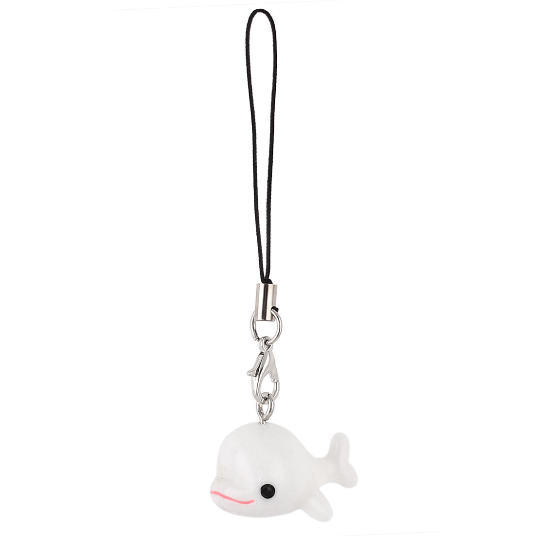 White Small Fish Pendants Cell Phone Strap String