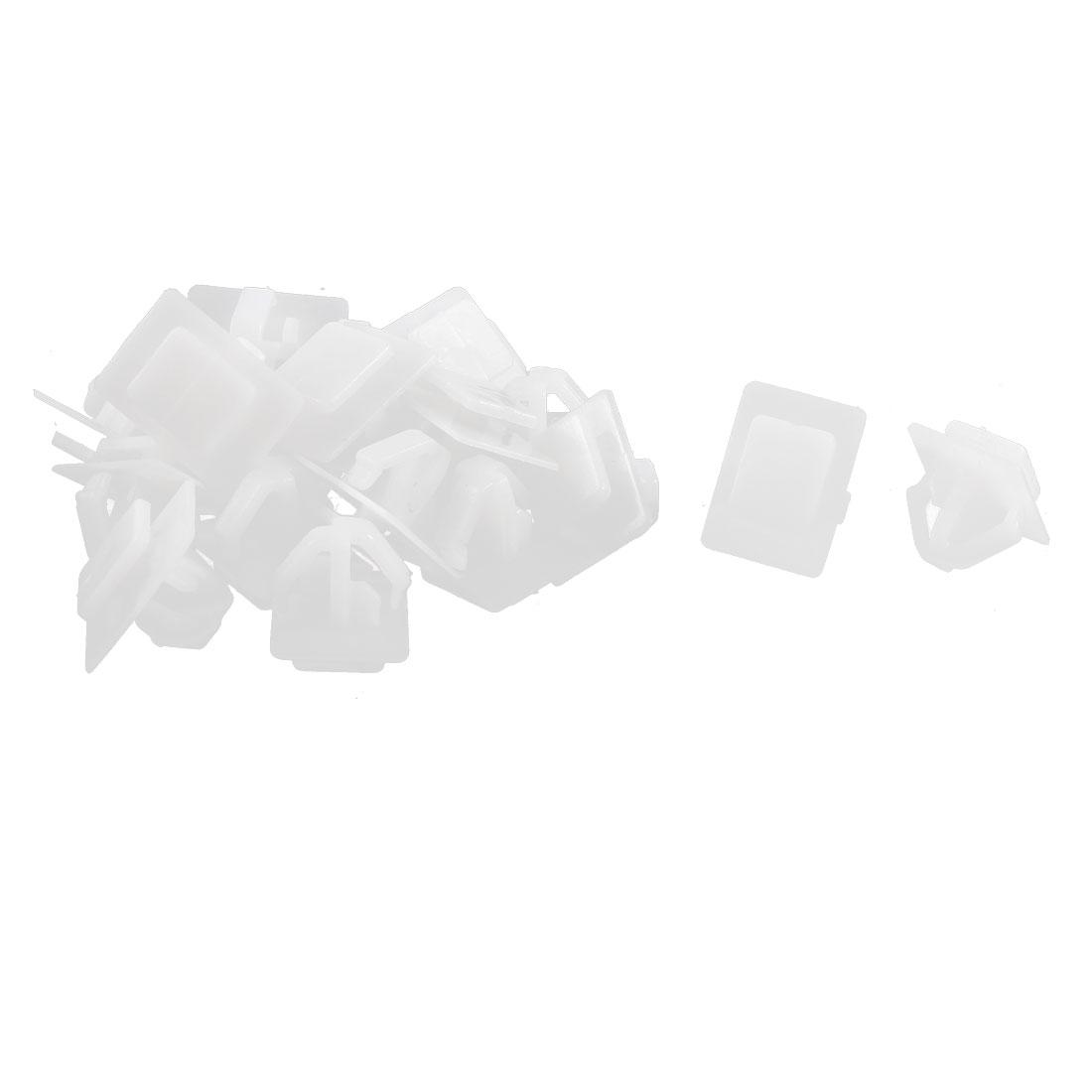 20 Pcs White Plastic Push-Type Moulding Rivet Clips 10mm Stem Length