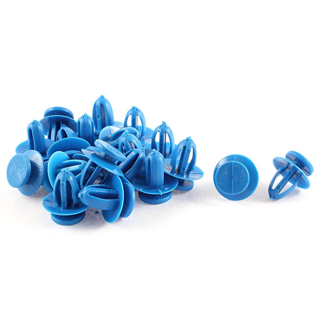 20 Pcs Blue Plastic Splash Guard Fastener Mat Clips 9mm x 13mm x 17mm