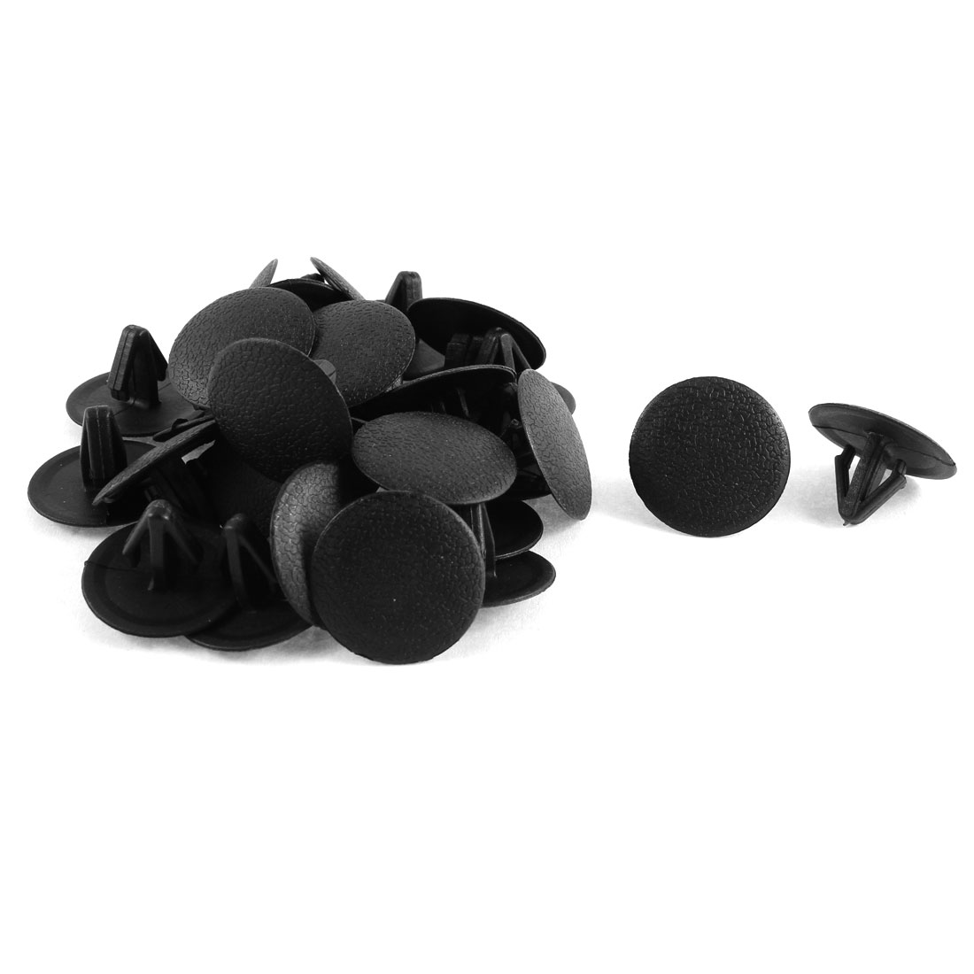 30 Pcs Black Plastic Splash Guard Moulding Bumper Clips 12mm x 14mm x 25mm