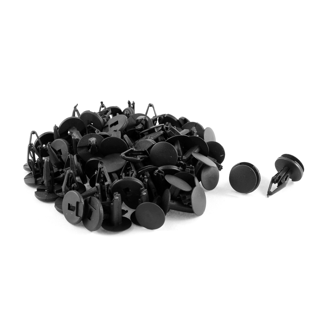50 Pcs Black Plastic Splash Guard Moulding Bumper Clips 9mm x 17mm x 19mm