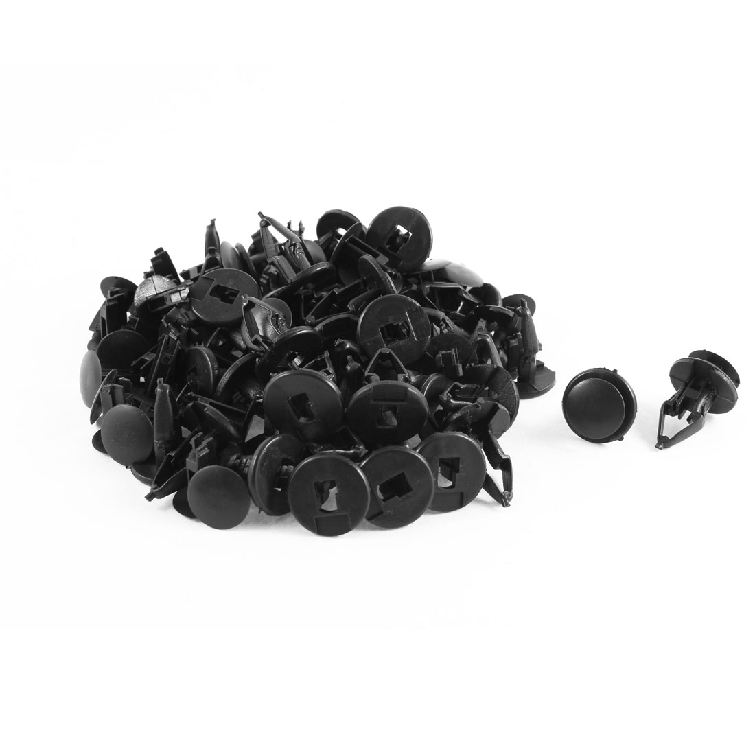 50 Pcs Black Plastic Splash Guard Moulding Bumper Clips 12mm x 19mm x 23mm