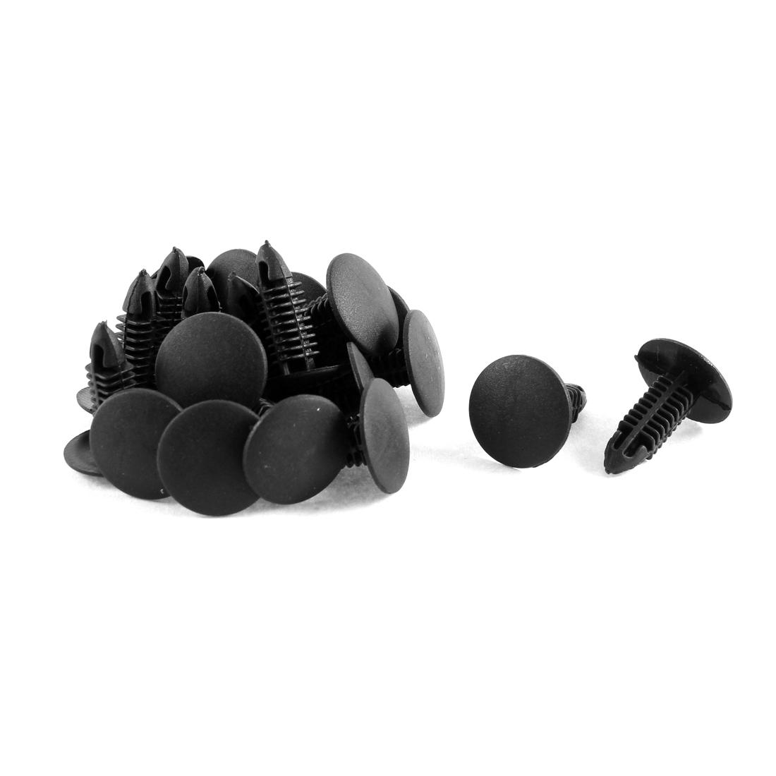 20 Pcs Black Plastic Splash Guard Moulding Bumper Clips 6mm x 17mm x 20mm