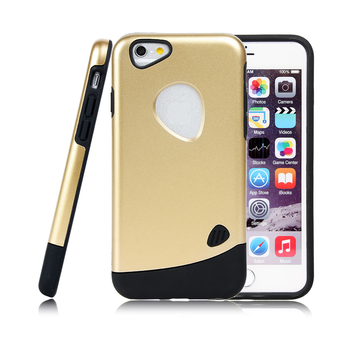 for Iphone 6 Case Combo Hybrid Shockproof Hard Cover Gold Tone