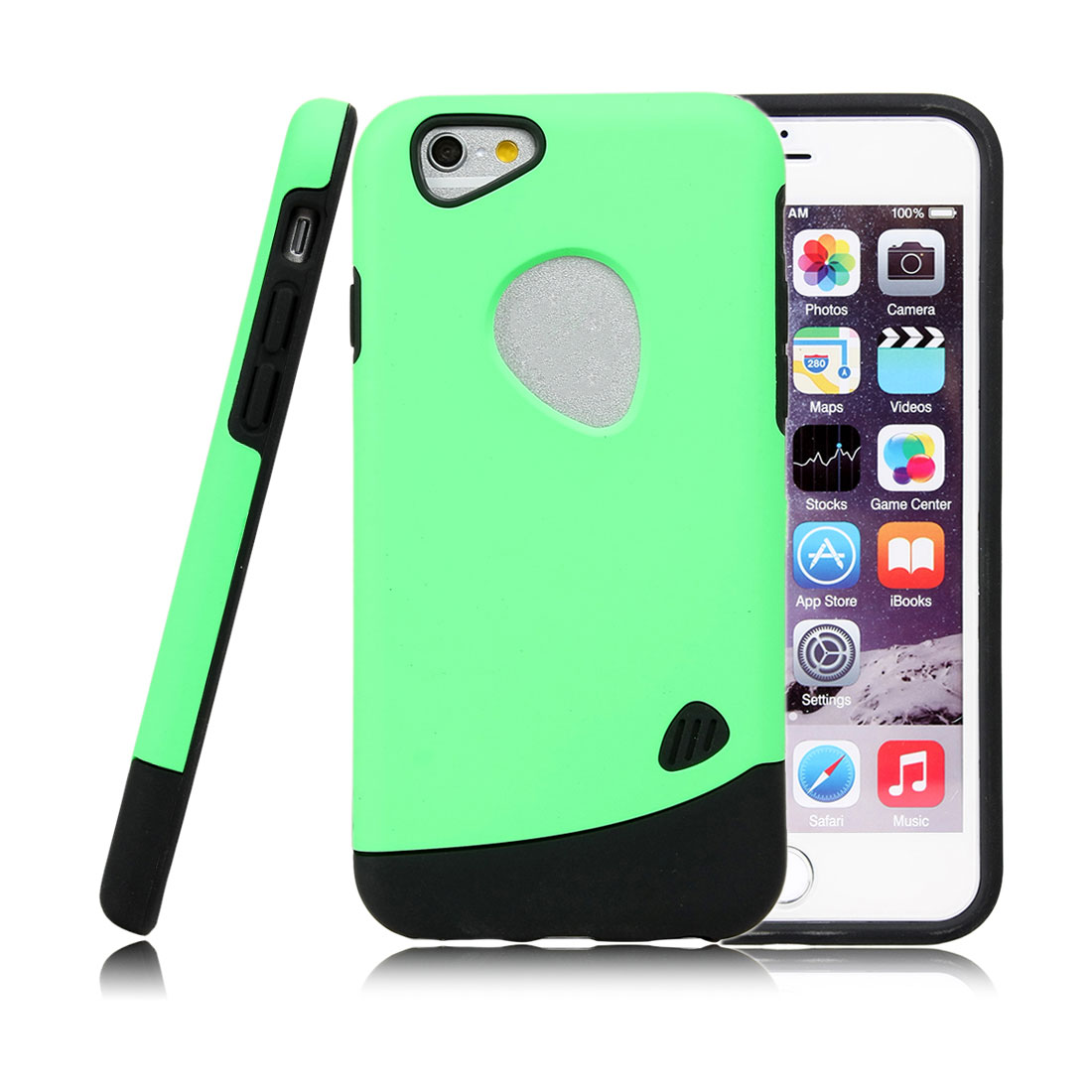 for Iphone 6 Case Combo Hybrid Shockproof Hard Cover Green