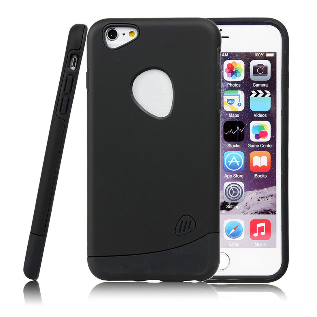 for Iphone 6 Plus Case Combo Hybrid Shockproof Hard Cover Black