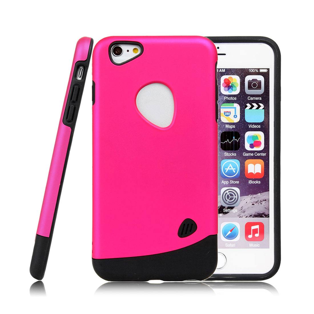 for Iphone 6 Plus Case Combo Hybrid Shockproof Hard Cover Fuchsia